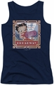 Betty Boop juniors tank top On Broadway navy