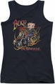 Betty Boop juniors tank top On Wheels black