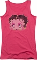 Betty Boop juniors tank top Pop Art Boop hot pink