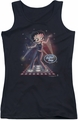 Betty Boop juniors tank top Pop Star black