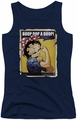 Betty Boop juniors tank top Power navy