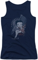 Betty Boop juniors tank top Proud Betty navy