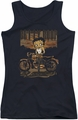 Betty Boop juniors tank top Rebel Rider black