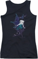 Betty Boop juniors tank top Sparkle Fairy black