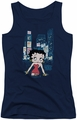 Betty Boop juniors tank top Square navy