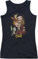 Betty Boop juniors tank top Star Princess black