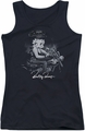 Betty Boop juniors tank top Storm Rider black