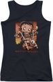 Betty Boop juniors tank top Sunset Rider black