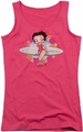 Betty Boop juniors tank top Surf hot pink