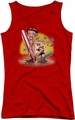 Betty Boop juniors tank top Surf red