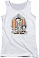 Betty Boop juniors tank top Surfers white