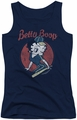 Betty Boop juniors tank top Team Boop navy