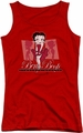 Betty Boop juniors tank top Timeless Beauty red