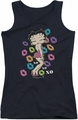 Betty Boop juniors tank top Tripple Xo black