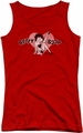 Betty Boop juniors tank top Vintage Cutie Pup red