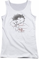Betty Boop juniors tank top Vintage Wink white