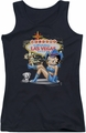 Betty Boop juniors tank top Welcome Las Vegas black