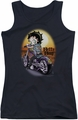Betty Boop juniors tank top Wild Biker black