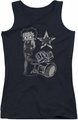 Betty Boop juniors tank top With The Band black