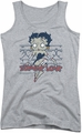 Betty Boop juniors tank top Zombie Pinup athletic heather