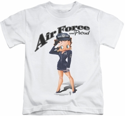 Betty Boop kids t-shirt Air Force Boop white