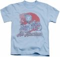 Betty Boop kids t-shirt All American Biker light blue