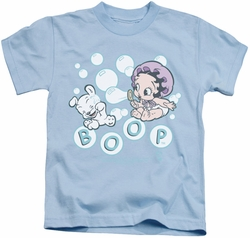 Betty Boop kids t-shirt Baby Bubbles light blue