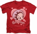 Betty Boop kids t-shirt Baby Heart red