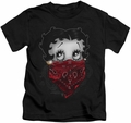 Betty Boop kids t-shirt Bandana & Roses black