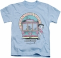 Betty Boop kids t-shirt Betty's Trolley light blue