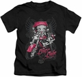 Betty Boop kids t-shirt Biker Babe black