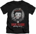Betty Boop kids t-shirt Born To Ride black