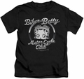 Betty Boop kids t-shirt Chromed Logo black