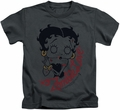 Betty Boop kids t-shirt Classic Zombie charcoal