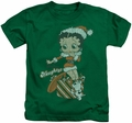 Betty Boop kids t-shirt Define Naughty kelly green
