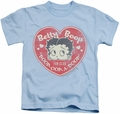 Betty Boop kids t-shirt Fan Club Heart light blue