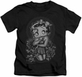 Betty Boop kids t-shirt Fashion Roses black