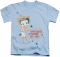 Betty Boop kids t-shirt Hot And Spicy Cowgirl light blue