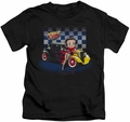 Betty Boop kids t-shirt Hot Rod Boop black