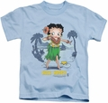 Betty Boop kids t-shirt Hula Honey carolina blue