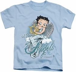 Betty Boop kids t-shirt I Believe In Angels light blue