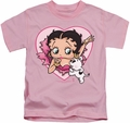 Betty Boop kids t-shirt I Love Betty pink