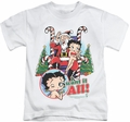 Betty Boop kids t-shirt I Want It All white