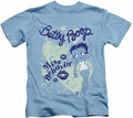 Betty Boop kids t-shirt Miss Behavin carolina blue