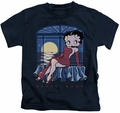 Betty Boop kids t-shirt Moonlight navy
