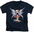 Betty Boop kids t-shirt Mushroom Fairy navy