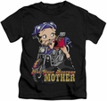 Betty Boop kids t-shirt Not Your Average Mother black