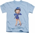 Betty Boop kids t-shirt Officer Boop light blue