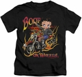 Betty Boop kids t-shirt On Wheels black