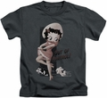 Betty Boop kids t-shirt Out Of Control charcoal